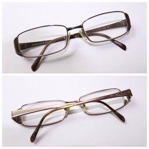Donna Karan DK 3515 1007 Brown Metal Italy Glasses